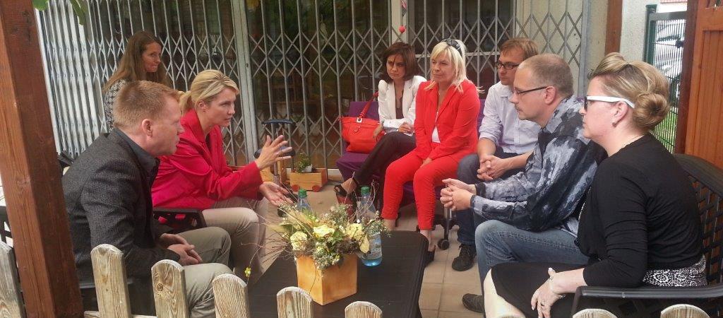 Gespräche der Thüringer Landeselternvertretung Kindertagesstätten mit Minister Christoph Matschie und Manuela Schwesig